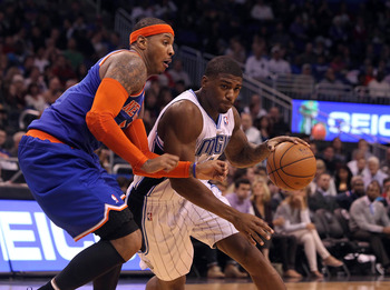 Not really known for his defense, Carmelo Anthony has significantly stepped it up.