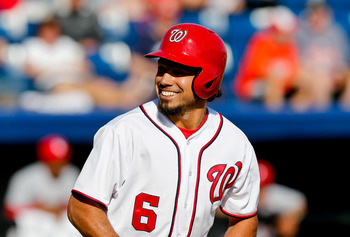 Mar 8, 2013; Melbourne, FL, USA; Washington Nationals third baseman Anthony Rendon (6) against the St. Louis Cardinals during a spring training game at Space Coast Stadium. Mandatory Credit: Derick E. Hingle-USA TODAY Sports
