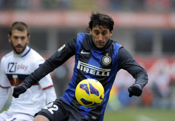 Inter Milan striker Diego Milito could be a target for Arsenal.