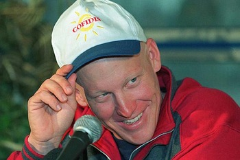 Armstrong in 1996 After Being Diagnosed With Cancer. Courtesy of UK Daily Sun.