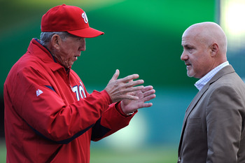 Nats manager Davey Johnson and GM Mike Rizzo.