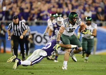 Colt Lyerla in the Fiesta Bowl