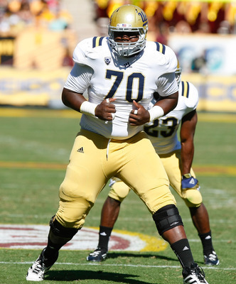 OT Simon Goines will start again in 2013.