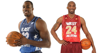 Who forgot the shorts?  Dwight and Kobe looked out of place at the 2012 All-Star Game..