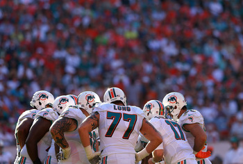 Miami Dolphins left tackle Jake Long.