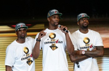 Long before they won a title together, Dwyane Wade, LeBron James and Chris Bosh had talked about it.
