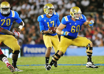 UCLA Bruins offensive guard—No. 60 Jeff Baca