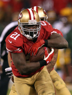 Frank Gore rushed for 119 yards against Green Bay.