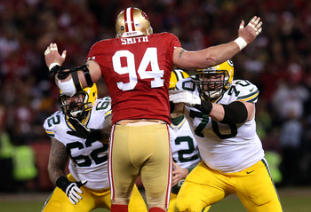 Justin Smith's return against the Packers was a boost to the 49ers' defense.