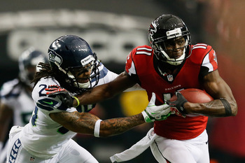 Julio Jones is often the go-to receiver when the Falcons need a big play on offense.