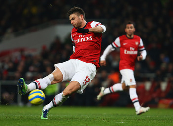 Olivier Giroud struggled once again in front of goal.