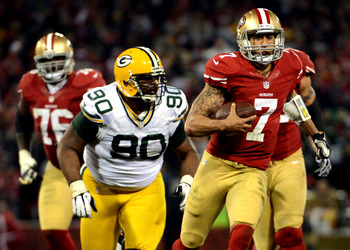 Kaepernick's speed will be a difference maker as you would expect.