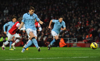 Edin Dzeko missed a penalty last week but still got on the scoresheet