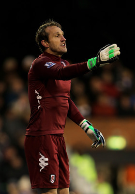 Mark Schwarzer has a busy afternoon's work ahead of him.