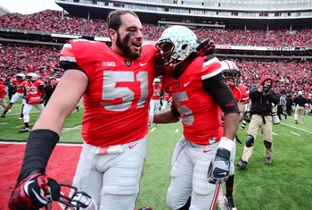 Joel Hale (51) will likely get the first crack at plugging the middle for Ohio State's defense.