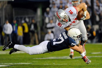 Nick Vannett hauled in one more reception in 2012 than Jeff Heuerman did.