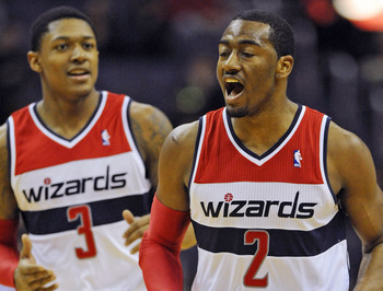 Washington Wizards' Bradley Beal, John Wall
