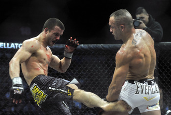 Curran in action against Eddie Alvarez (Photo by Henry S. Dziekan III/Getty Images)
