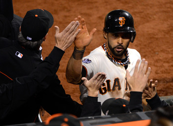 Angel Pagan's new contract runs through 2016.