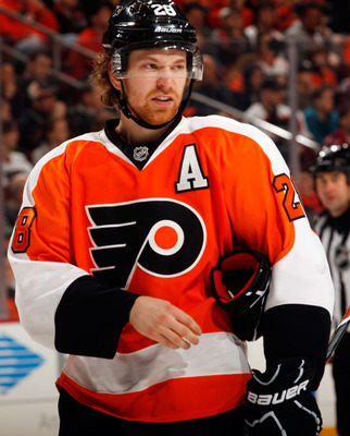 "Giroux will be wearing the ""C"" on his jersey for the first time on Saturday."