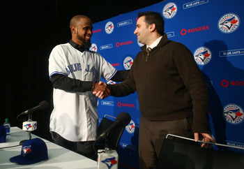 Toronto Blue Jays SS Jose Reyes and GM Alex Anthropoulos