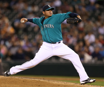 Felix Hernandez led MLB with five shutouts in 2012.
