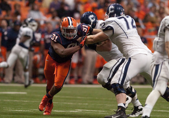 Syracuse's Brandon Sharpe brings versatility as a hybrid defensive end.