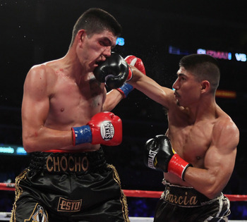 Garcia is excellent at dictating the pace of a fight.