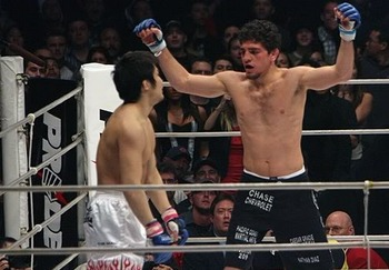 Nick Diaz had a huge win over Takanori Gomi...until it was overturned. Photo c/o Sherdog.com.