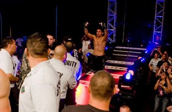 Nick Diaz's first brawl in the cage came in Hawaii with EliteXC. Photo c/o CombatLifestyle.com.