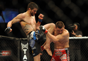 Some fans say Diaz beat Carlos Condit...but Diaz was never going to hold the belt with his failed drug test.