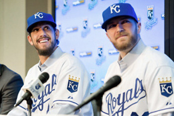 James Shields and Wade Davis instantly bolster the Royals starting rotation. (Photo c/o David Eulitt/Getty Images)