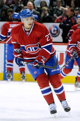Rene Bourque of the Montreal Canadiens