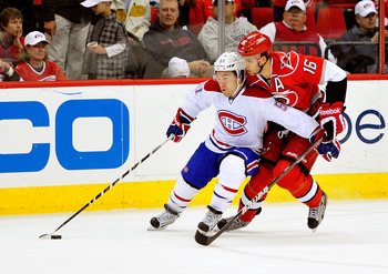 David Desharnais of the Montreal Canadiens