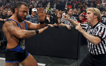 Santino after being eliminated in just 2 seconds back in 2009 (Image Obtained From WWE.com)