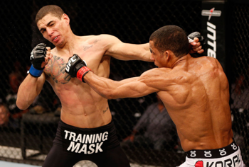 Pictured: Edson Barboza, right. (Photo Credit: UFC/Zuffa)