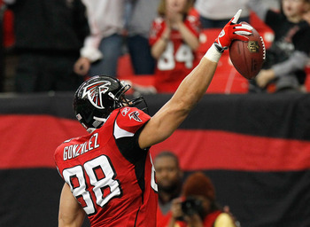 Gonzalez broke many of his records during his first game with the Falcons.