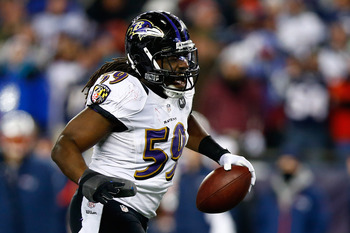 Dannell Ellerbe came up with a clutch interception of Tom Brady late in the game to seal a win for the Ravens.