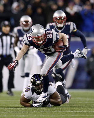Wes Welker was able to find some running room against the Ravens coverage units on Sunday.