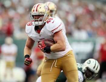 Former defensive end Bruce Miller has developed into quite the fullback, and he's dominated in the playoffs.