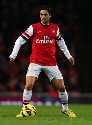 Arsenal midfielder Mikel Arteta remains sidelined.
