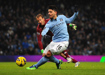 Sergio Aguero returned for Manchester City at the weekend.