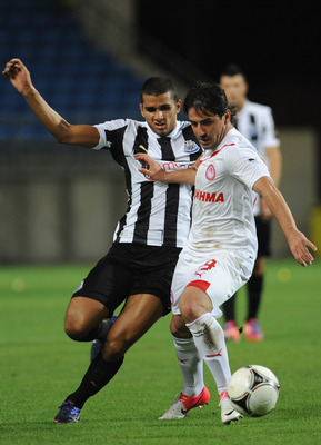 Abeid In Action Against Olympiakos in Pre-Season