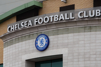 LONDON, ENGLAND - MARCH 16: A general view of Chelsea Football Club logo on March 16, 2011 in London, England. (Photo by Tom Dulat/Getty Images)