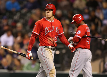 Angels' center fielder and Rookie of the Year Mike Trout.