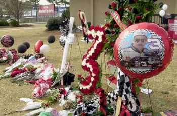NASCAR fans memorialize the death of racing legend Dale Earnhardt Sr.