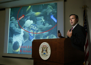 The 2004 Pacers-Pistons brawl was serious enough to get the state prosecutor's office involved.