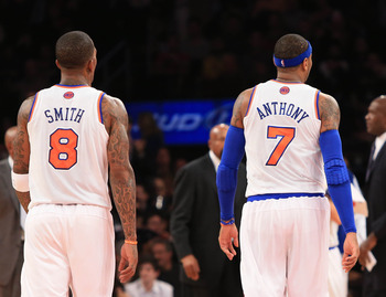 J.R. Smith is contributing to Carmelo's MVP campaign as much as anybody by relieving some scoring pressure of No. 7.