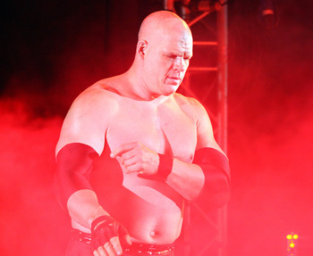 The Big Red Monster and Tag Team Champion Kane