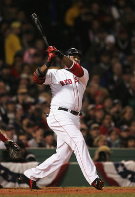 David Ortiz hit a three-run home run in the first inning of the 2004 World Series.